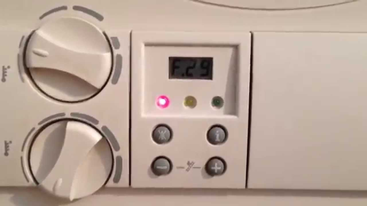 How To Clear Error F28 F29 Issue With Vaillant Ecotec