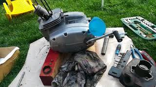 ČZ 175/487 složení motoru, první staaaart 🙂