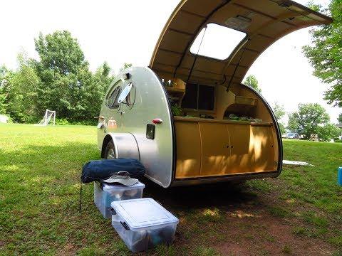 Teardrop trailer Sivananda Yoga Ranch Ashram Camping Monticello NY