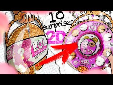 2D LOL Surprise BIG Ball (GIANT) - 10 SURPRISES Inside | DIY
