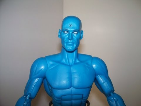 "DC DIRECT 1:6 SCALE DR. MANHATTAN THE WATCHMEN MOVIE 14"" inch ACTION FIGURE TOY REVIEW"