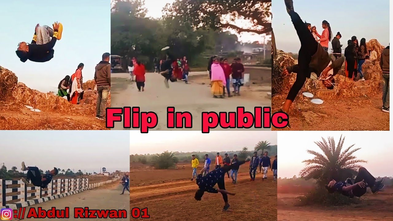 Flips in public places reaction public 🔥🔥🔥ll Abdul Rizwan