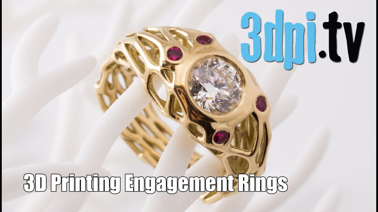 Customized 3D Printed Diamond Engagement Rings