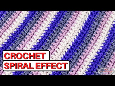 Crochet the SPIRAL EFFECT Rows to Rounds