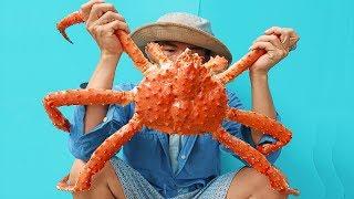 Lần Đầu Ăn Cua Hoàng Đế Alaska Khổng Lồ - King Crab Alaska – Thử Thách Ăn Cua
