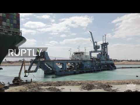 Egypt: Suez Canal remains blocked as salvage teams attempt to refloat the stuck MV Ever Given