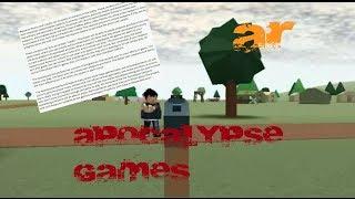 ROBLOX Apocalypse Rising - Apokalypse Spiele - Let es Talk -