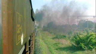 Journey on Meter Gauge Express train: Honking/Smoking/Chugging YDM4 with Mahesana Intercity Exp