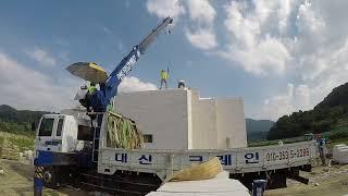 ALC내진주택 (김천)청우ALC 시공영상 지붕 마무리