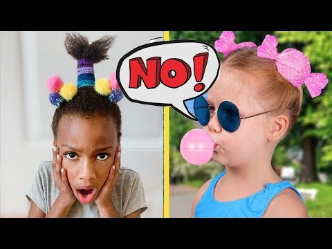 We Tried 13 Cute Hairstyle Ideas for Little Girls - Will They Work? CrayCray Family Vlog thumbnail