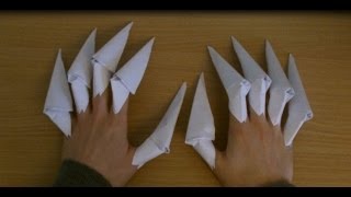 How To Make Paper Claws!