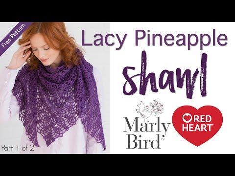 Pineapple Shawl Tutorial Part 1 (Crochet Stitches) | Doovi