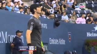 Andy Murray gets angry with himself - Djokovic vs Murray HD US Open 2014