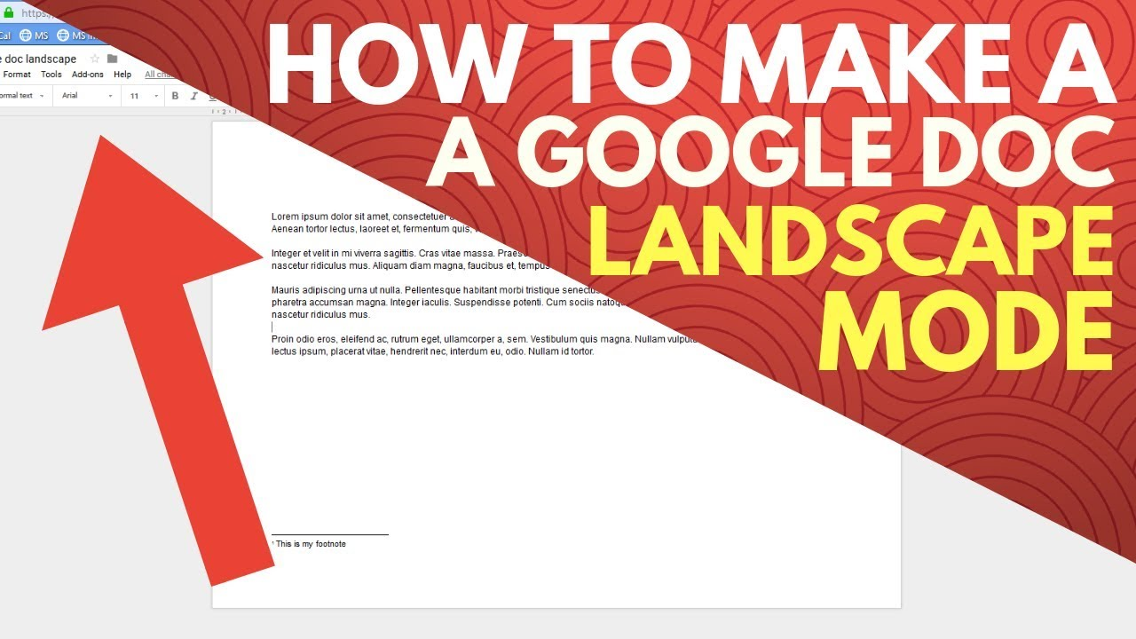 How To Make A Google Doc Landscape Mode Youtube