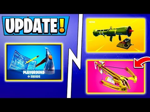 *BIG* Fortnite Update! | ALL Changes, Crossbow, Guided Missile, New LTM!