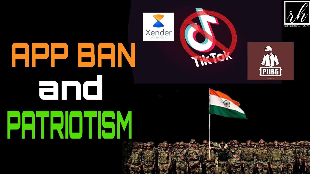 app ban  and patriotism. ടിക് ടോക്കും രാജ്യ സ്നേഹവും
