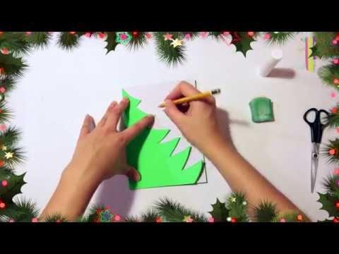 How to make a Christmas TreeКак сделать елочку на новый год аппликация елочка ёлка новый год смотреть в хорошем качестве
