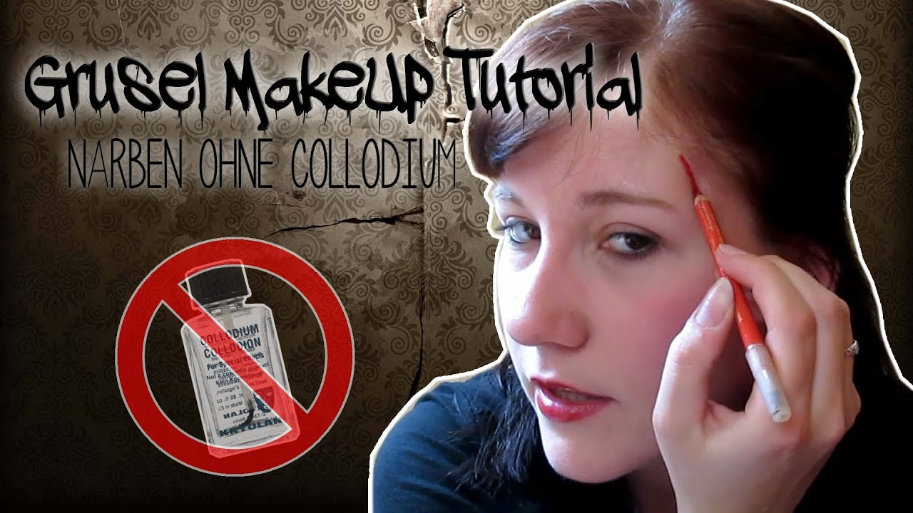 grusel makeup tutorial narbe ohne collodium youtube. Black Bedroom Furniture Sets. Home Design Ideas