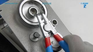 Unior+TipTop Zange f Flicken Sicherungsringe au/ßen gebogen 140mm 3-10mm