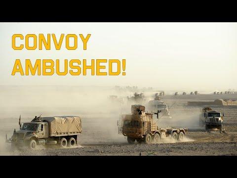 Arma 3 - British Convoy ambushed in Afghanistan [1080p]