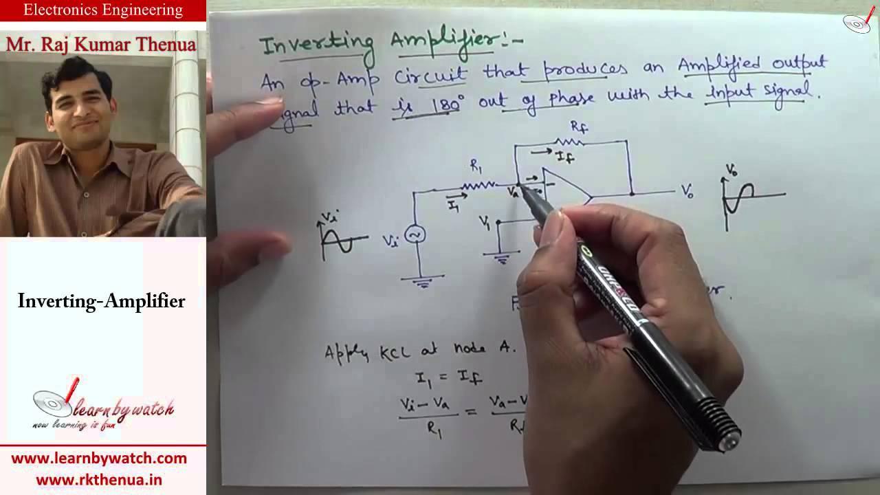 Inverting Amplifier Electronics Engineering By Raj Kumar Thenua Power Diagram Hindi Urdu