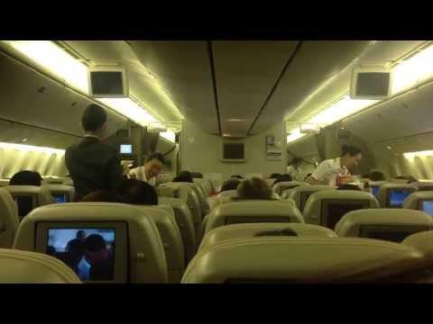 Japan Airlines Meal Serving