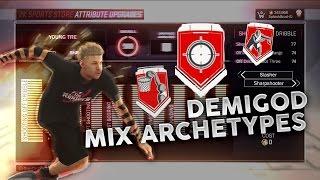 NBA 2K17 DEMIGOD MIX ARCHETYPES GLITCH • SIGNATURE SKILLS ON ANY PLAYER !!!