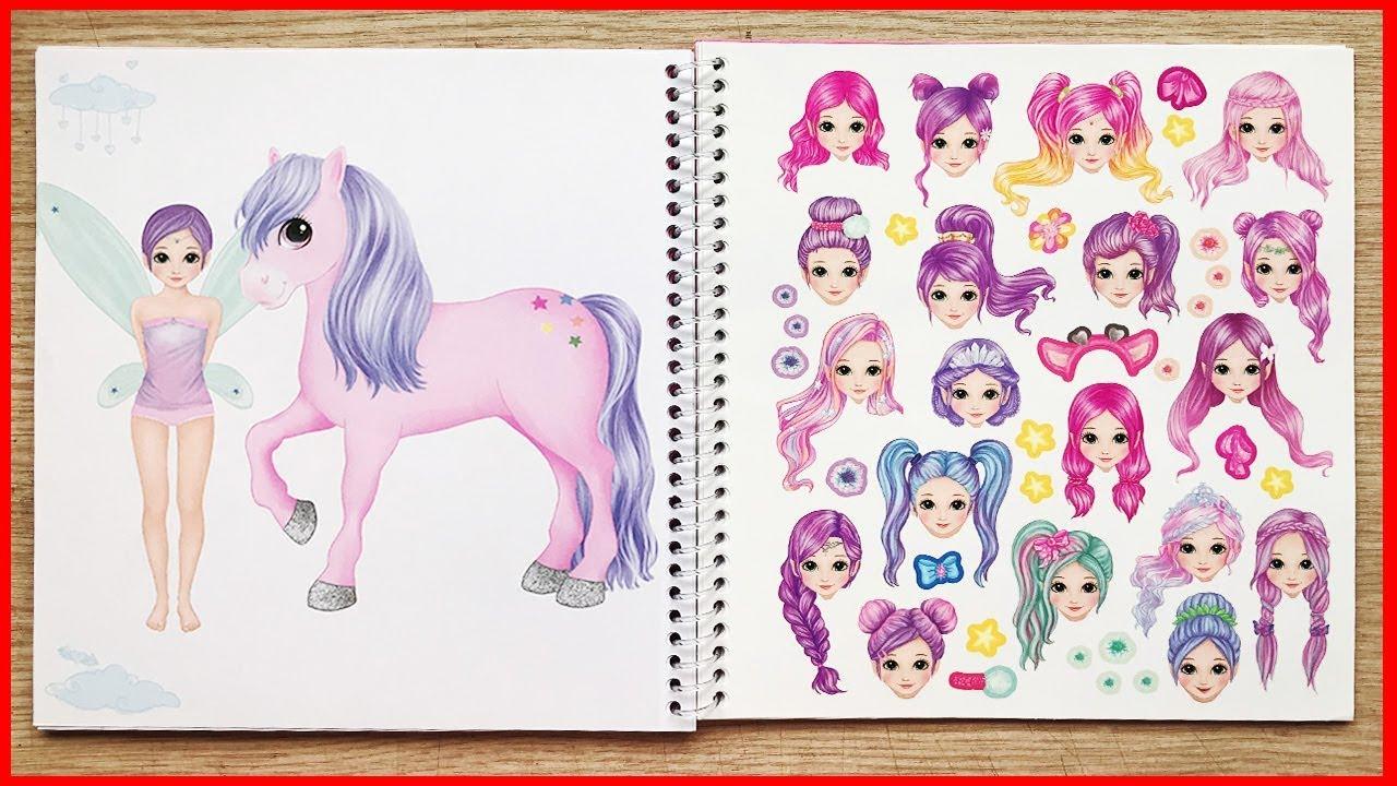 Đồ chơi dán hình thay đồ công chúa tiên bướm & ngựa Unicorn 1 sừng – Sticker dolly dress (Chim Xinh)