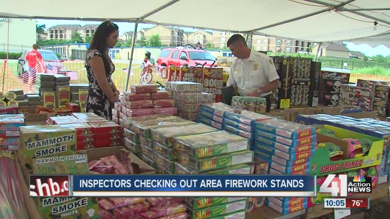 KCK Fire Marshal inspects fireworks tents & KCK Fire Marshal inspects fireworks tents - YouTube