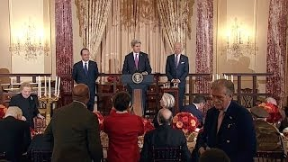Vice President Biden Hosts a Luncheon for President Hollande