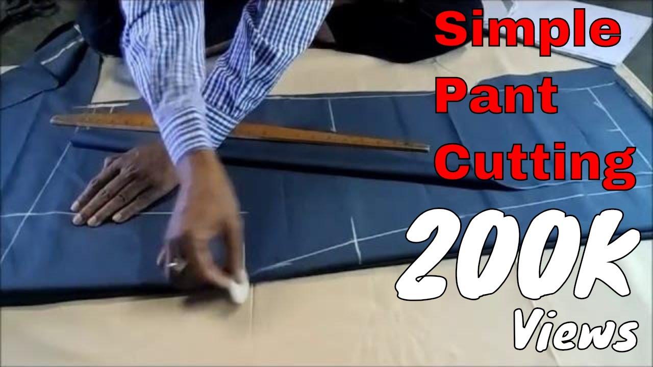Simple Pant Cutting in Hindi | Easy Method | आसान पैंट काटना हिंदी में