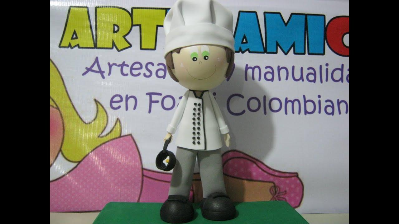 Moldes Para Lazos De Foamy: FOFUCHO CHEF O COCINERO DECORATIVO EN FOAMY GOMAEVA CON