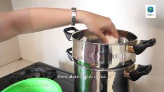 Proses Pembuatan Tape Singkong (How to Make Cassava Tapai) - NFT Surya University