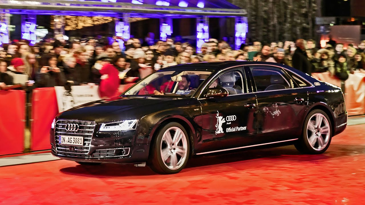 2016 audi a8 l w12 piloted driving at the berlinale 2016. Black Bedroom Furniture Sets. Home Design Ideas