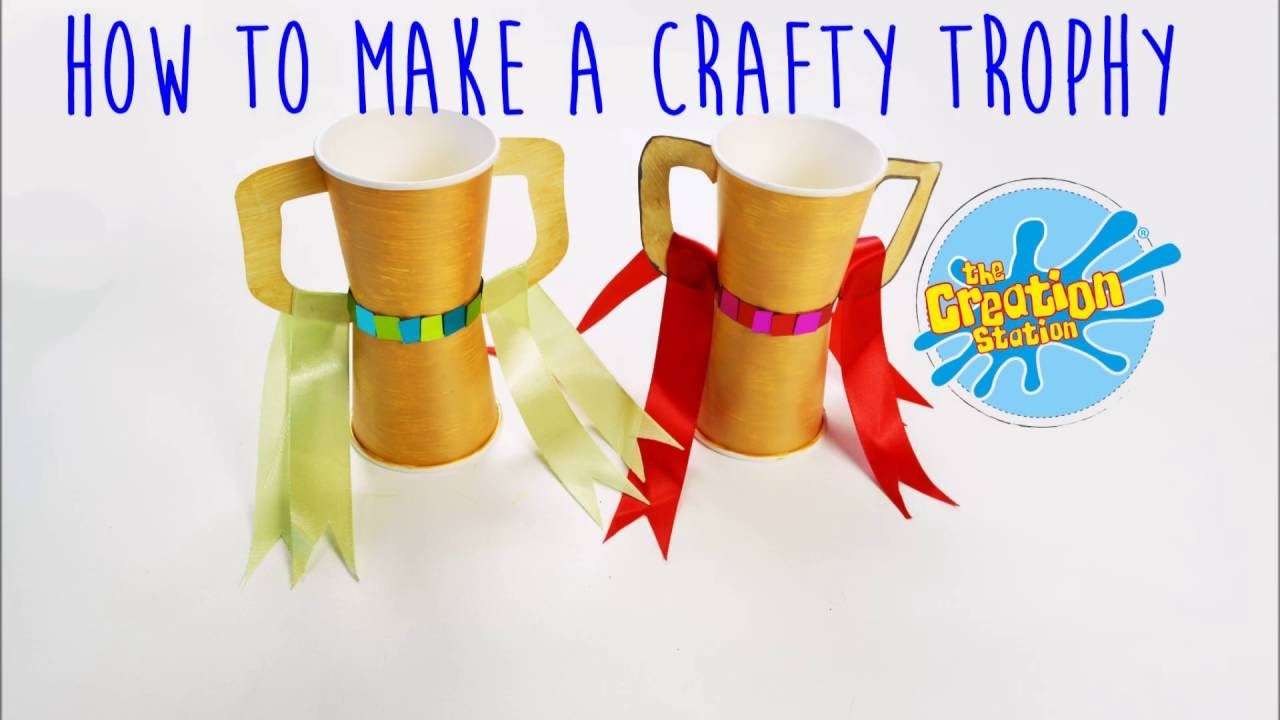 Paper Trophy How To Make A Children's Crafty Trophy - Youtube