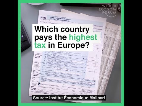 Which country pays the highest tax in Europe