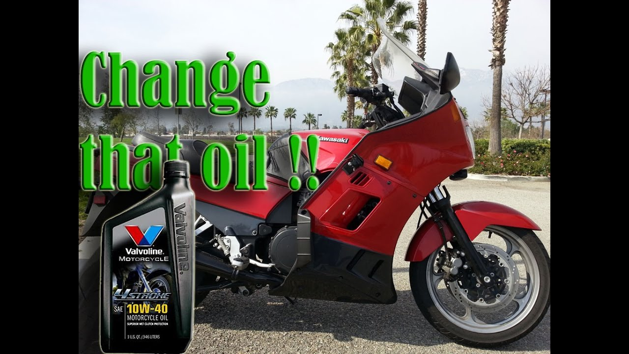 How to change motorcycle engine oil kawasaki concours zg1000