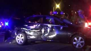 Car Crashes Into DUI Checkpoint
