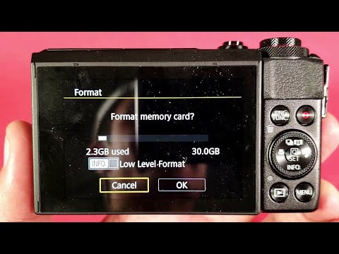 Canon G7x Mark Ll How To Format Sd Card Youtube