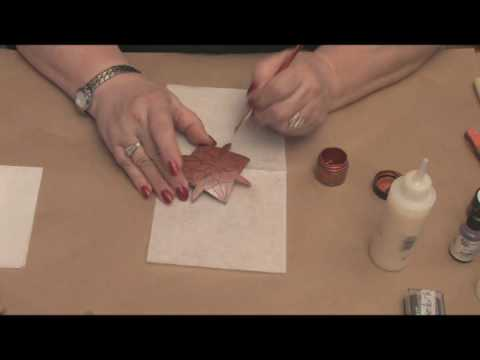 Maria Dellos Gourd Art - Protecting Wax - Accent Powder Part 2
