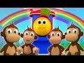 5 обезьянок на кровати прыгали