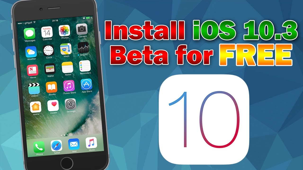 How To Install Ios 10 3 3 Beta 6 For Free No Udid Activation Iphone Ipod Touch Or Ipad Youtube
