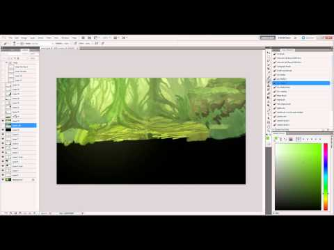 Jungle digital painting – overview/rundown