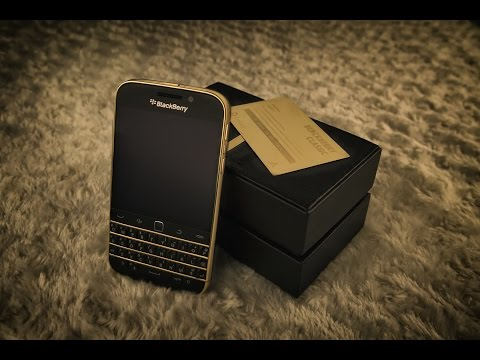 BlackBerry Classic 24K Gold Limited Edition 99/99_ Golden Ace