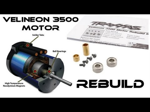 "RC ""How To"" Rebuild Velineon Brushless 3500 Motor"