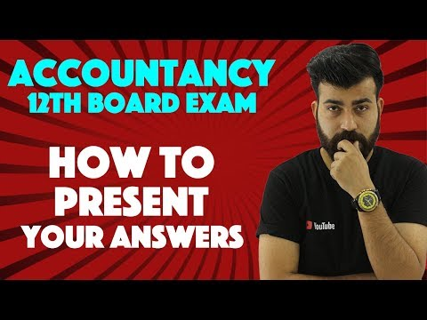 Presentation of Numerical's - Accountancy Class XII Boards #teamcommercebaba