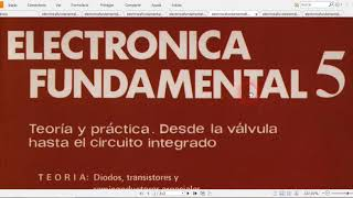 Libros de electronica fundamental