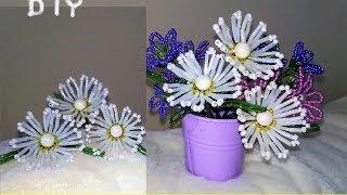 Цветы из бисера для начинающих / БИСЕРОПЛЕТЕНИЕ