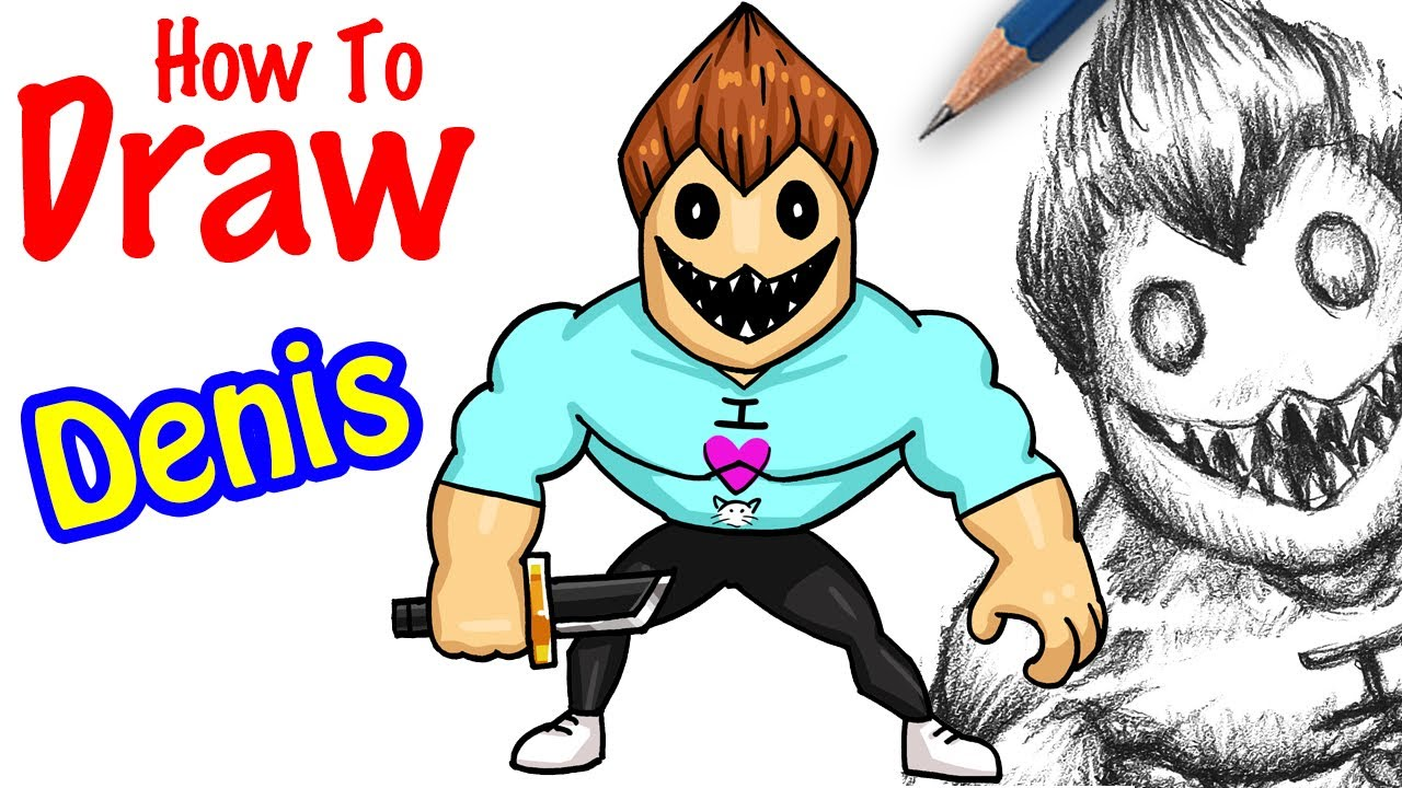 Cool Roblox Drawings How To Draw Denis Roblox Youtube