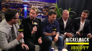 Nickelback Backstage at The 2016 JUNO Awards